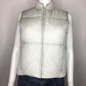 Banana Republic Size XS Gray Vest Puffy Quilt